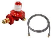 High pressue LP gas regulator and hose set
