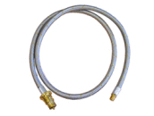"1.5m Stainless Steel Gas Hose 1/4"" BSPM x Bayonet"