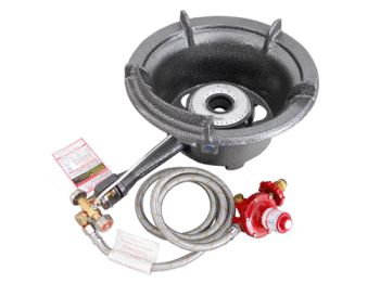 Single ring high pressure burner - manual ignition