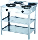 Double LP gas wok burner with stand