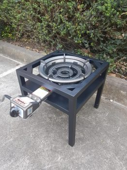 BUNDLE BUY - Auto Ignition Ring Burner - LP Gas and steel frame table