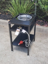 Bundle Buy - High Pressure Burner LP Gas and tall steel frame table