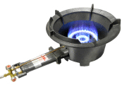 Large dual ring high pressure burner